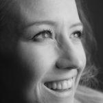 headshot, black and white, photography, girl, eyes, smile